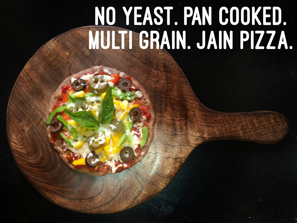 No yeast pan cooked multi grain jain pizza sonals jain kitchen no yeast pan cooked multi grain jain pizza forumfinder Gallery